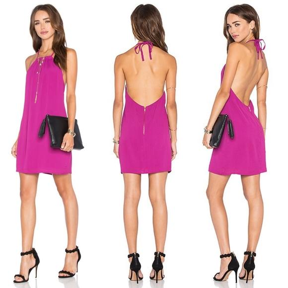 NBD Dresses & Skirts - EUC NBD x Naven Hopeless Halter Dress in Berry